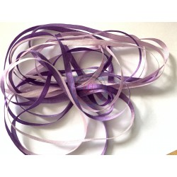 Ruban de soie 3330 dégradé 4 mm qualité française au ver à soie