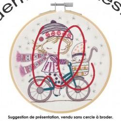 Kit de broderie: Quand Salomé se promène à Vélo