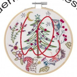 Kit de broderie: Noël en forêt