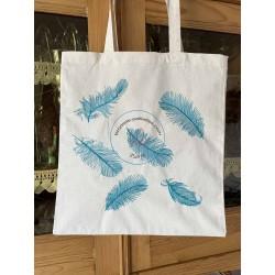"""tote bag brodé motif """"les parisiennes"""" en bleu"""