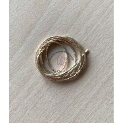 Cannetille noir chocolaté brillant ressort métallique