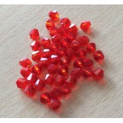 Sachet de perles à facettes bicône  orange