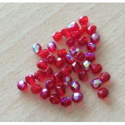 Sachet de perles à multi facettes rouge