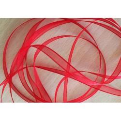 ruban mousseline rouge  324 élégant et translucide