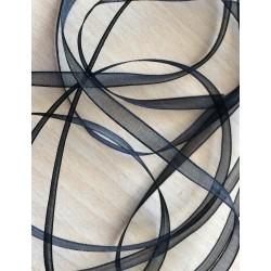 ruban mousseline noir 233  légère et translucide