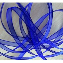 ruban mousseline bleu 320  légère et translucide