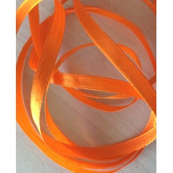 joli ruban décoratif satin orange 108