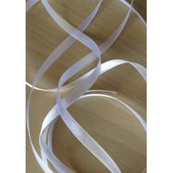 joli ruban satin couleur blanche 801