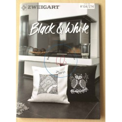 "livret de broderie libre ""Black and White"""