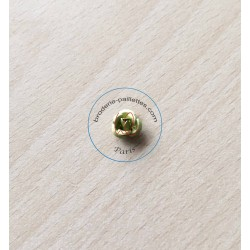 Rose en métal argent 12 mm