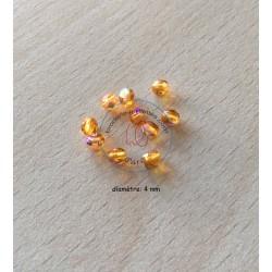 Sachet de perles à facettes irisées