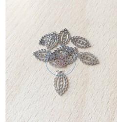jolie paillette ovale filigrane argent