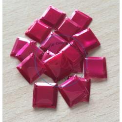 paillette cabochon carré couleur framboise nacrolaque irisé
