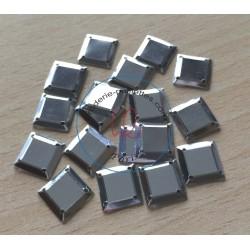 paillette cabochon carré couleur argent nacrolaque irisé