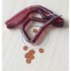 paillettes opaline métal or rosé 5 mm