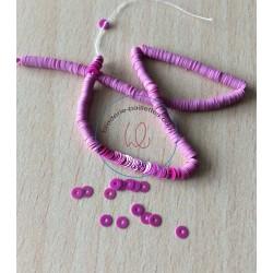 paillette fuchsia procelaine   3 mm