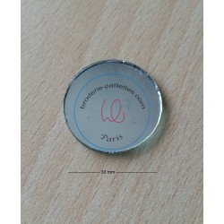 miroir shisha à coudre  disque  taille 3 cm