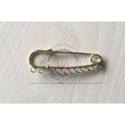 Épingle kilt avec des anneaux cuivre vieilli