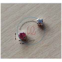 "Strass Swarovski cabochon ""Chatons""  4 mm light rose"