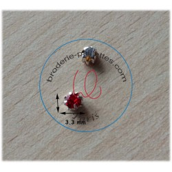 "Strass Swarovski cabochon ""Chatons""  3.3 mm light siam"
