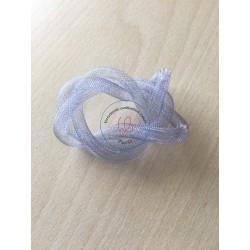 ruban tubulaire résille couleur gris clair