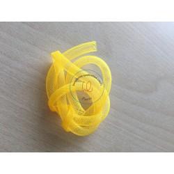 ruban tubulaire résille couleur jaune