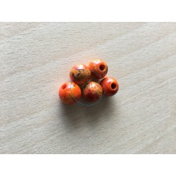 sachet de perles en plexiglass 10 mm couleur orange