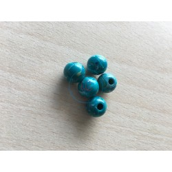 sachet de perles en plexiglass 10 mm couleur fuchsia