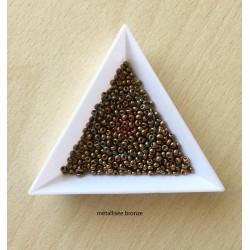 sachet de perles de rocaille couleur bronze