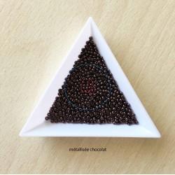 sachet de perles de rocaille couleur chocolat