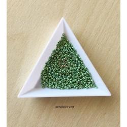 sachet de perles de rocaille couleur vert