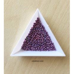 sachet de perles de rocaille couleur violet