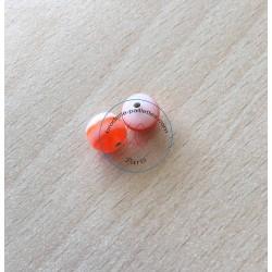 """perle artisanale en verre  forme """"amande"""" couleur: ambre"""