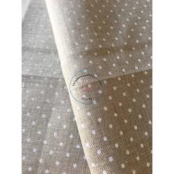 """toile à broder """"Murano carré"""" écru / marron"""