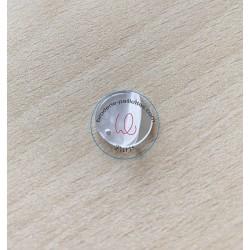 miroir shisha à coudre  disque  taille 3 cm  doré